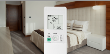 Điều khiển có đèn nền, biên độ nhiệt 0.5°C (*)